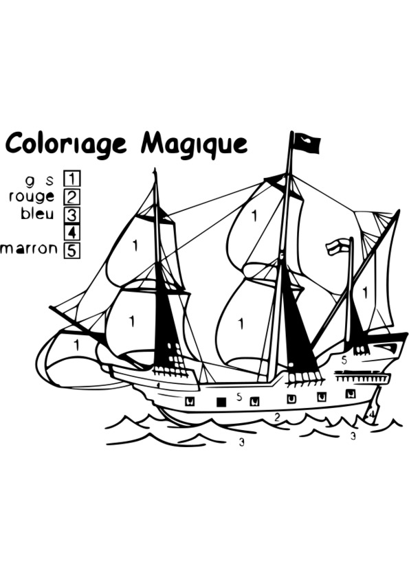 jeux 2 coloriage magique