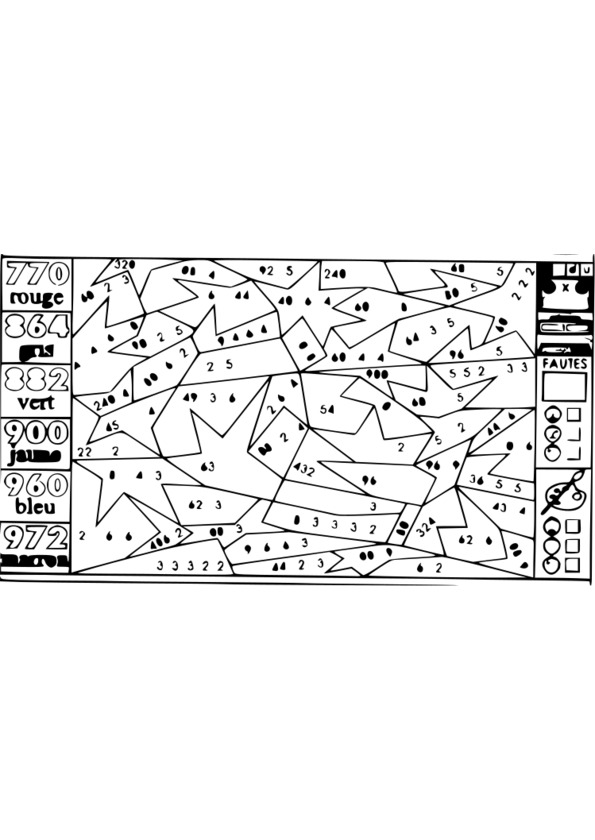 Coloriage204 coloriage magique multiplication cm1 - Coloriage de multiplication ...