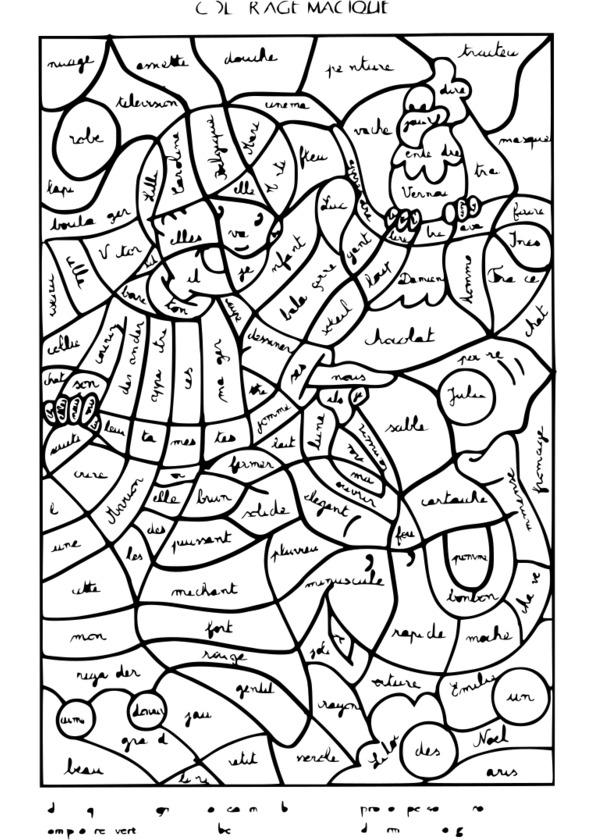Coloriage Magique Extraterrestre.205 Dessins De Coloriage Magique A Imprimer