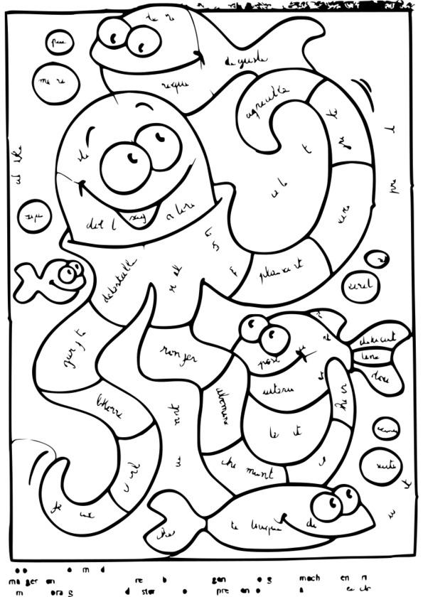 dessin à colorier magique calcul