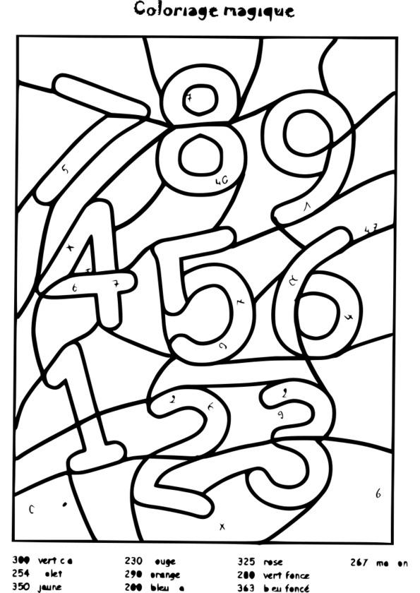 coloriage à dessiner magique ce2 calcul a imprimer