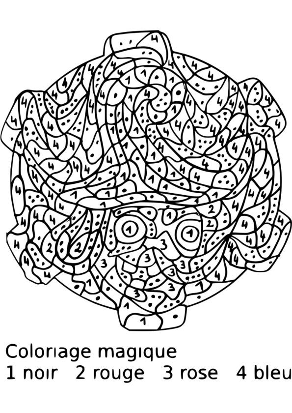 Coloriage Magique Moyenne Section