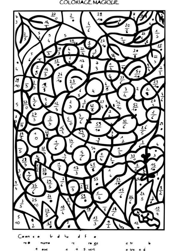 Coloriage magique table d 39 addition ce2 - Coloriage magique tables ...