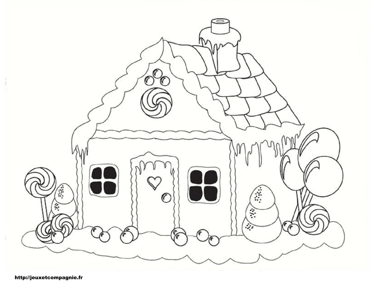 dessin à colorier maison halloween imprimer