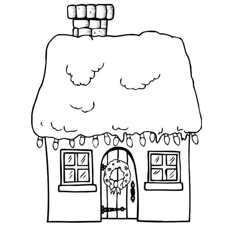 dessin à colorier la maison de mickey
