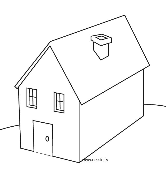dessin maison hanté