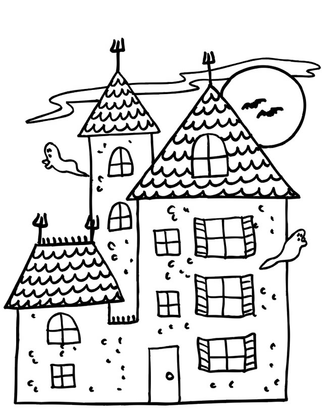 coloriage à dessiner maison ville playmobil