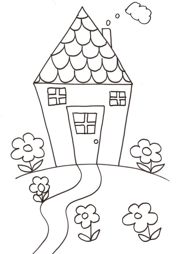 Coloriage dessiner maison campagne playmobil - Dessin maison de campagne ...
