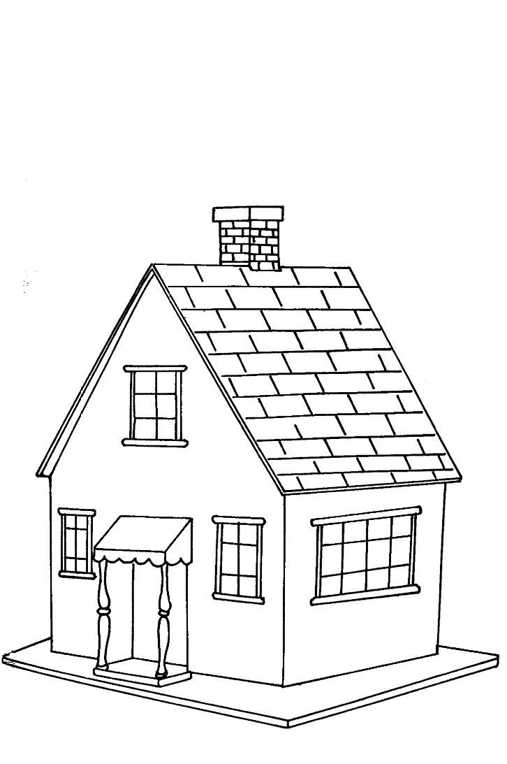 coloriage à dessiner maison campagne playmobil
