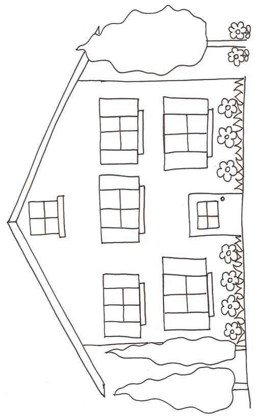coloriage maison à imprimer gratuit