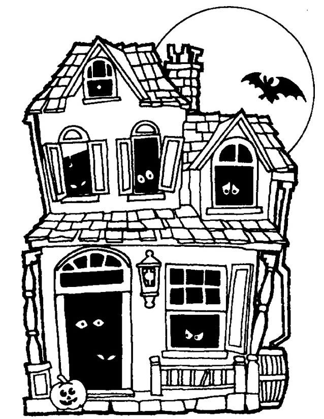coloriage maison à colombage