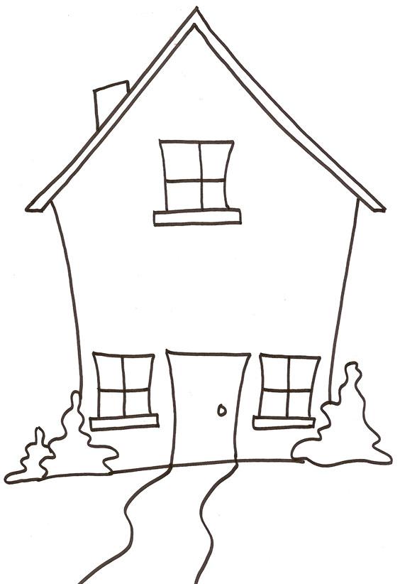 Coloriage dessiner maison campagne - Maison dessin enfant ...