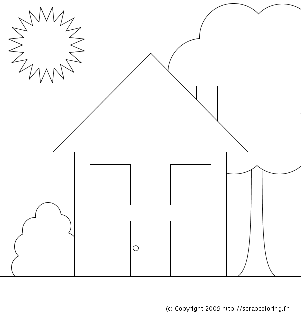 coloriage maison des 7 nains. Black Bedroom Furniture Sets. Home Design Ideas