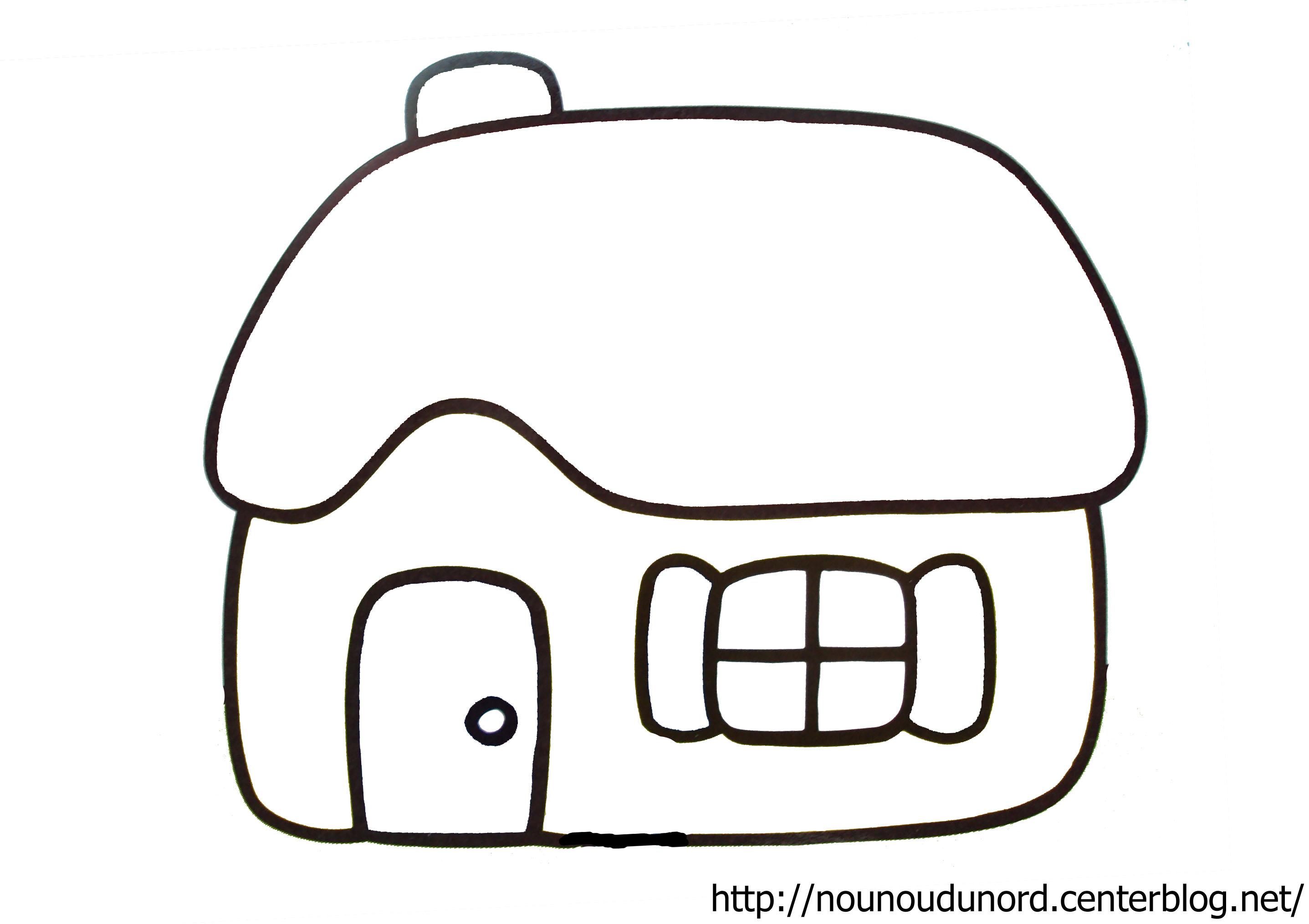 Coloriage maison sorciere - Dessins maison ...