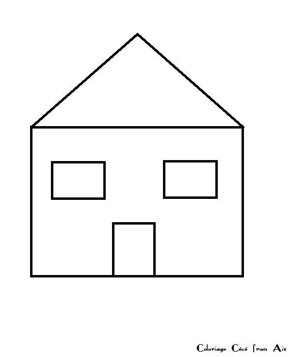 coloriage maison à imprimer