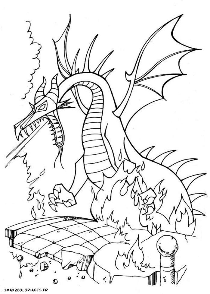 18 dessins de coloriage mal fique belle bois dormant - Dessin de malefique ...
