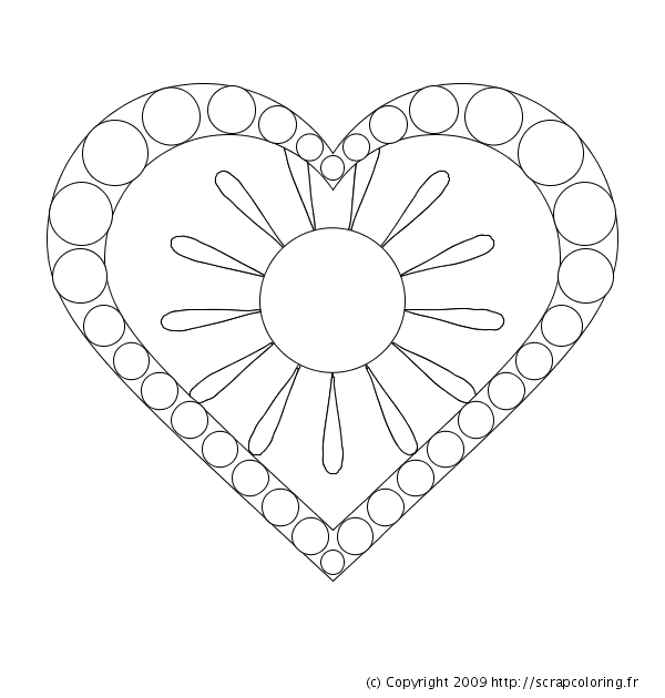 18 dessins de coloriage mandala coeur imprimer. Black Bedroom Furniture Sets. Home Design Ideas