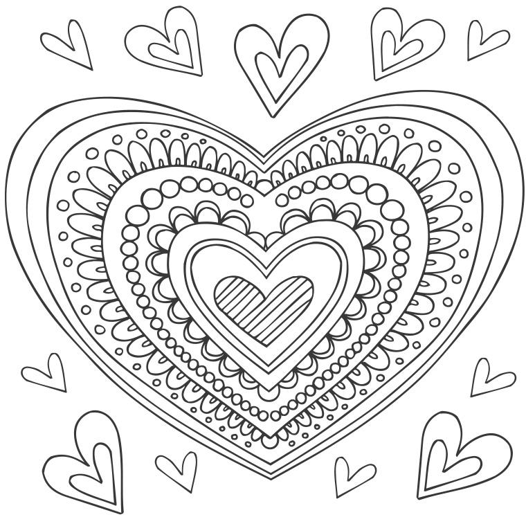 18 dessins de coloriage mandala coeur imprimer - Mandala coeur imprimer gratuitement ...