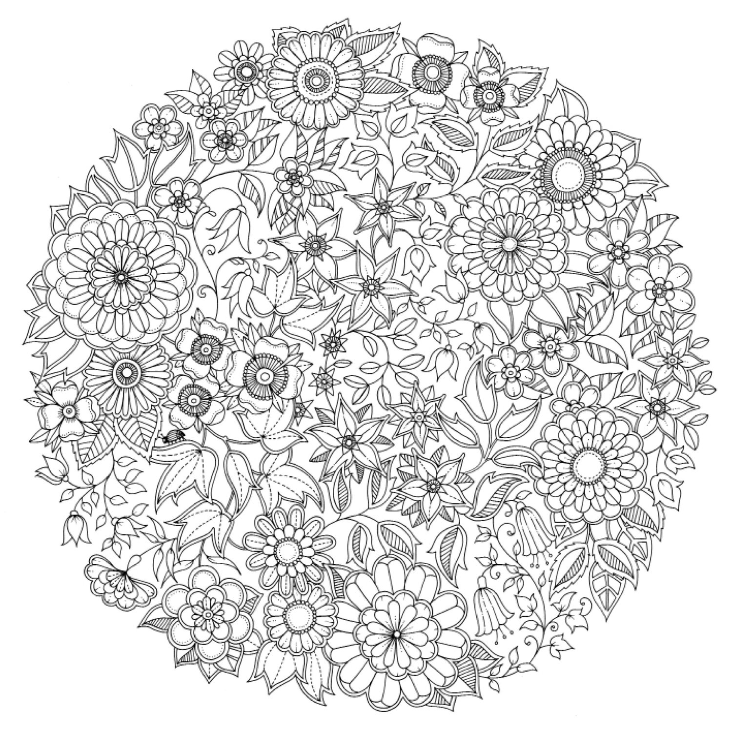 20 dessins de coloriage mandala difficile imprimer for Jardin secret piano
