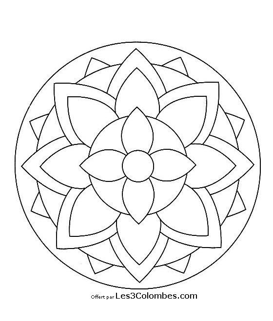 20 dessins de coloriage mandala en ligne imprimer - Coloriage mandala en ligne ...