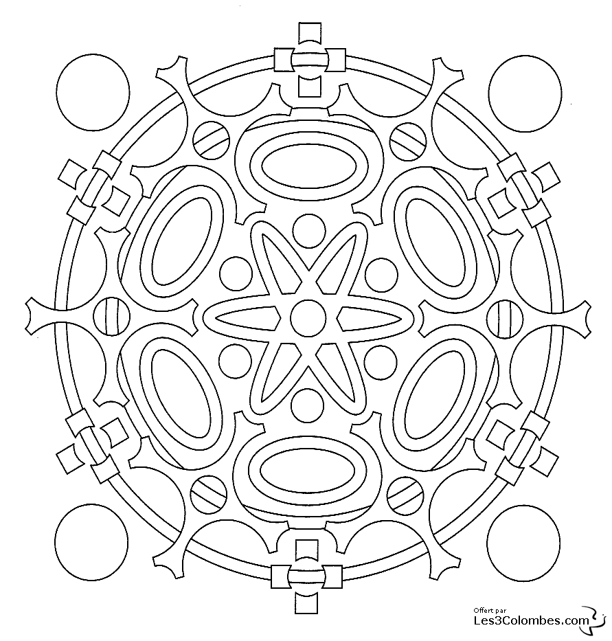 20 dessins de coloriage mandala en ligne imprimer. Black Bedroom Furniture Sets. Home Design Ideas