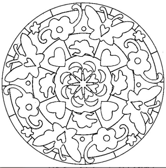20 dessins de coloriage mandala fleur imprimer. Black Bedroom Furniture Sets. Home Design Ideas