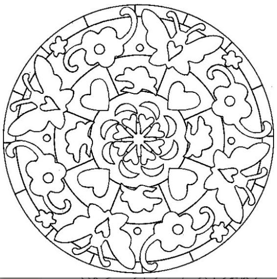 20 dessins de coloriage mandala fleur imprimer - Photo de fleur a imprimer ...