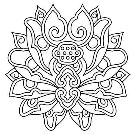 20 dessins de coloriage mandala fleur imprimer - Dessin de fleurs a imprimer en couleur ...