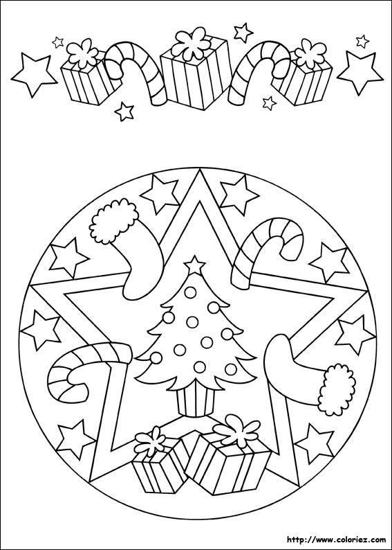 20 dessins de coloriage mandala noel imprimer - Mandalas noel ...