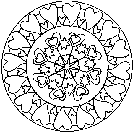 coloriage mandala ordinateur