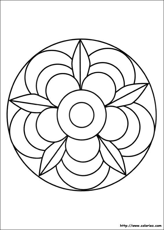 coloriage mandala lettre