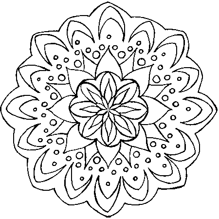 coloriage mandala orque