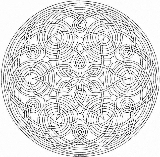 coloriage mandala géométrique