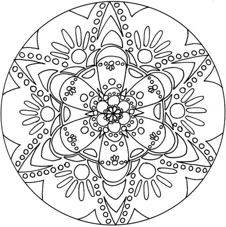 coloriage mandala 5 ans