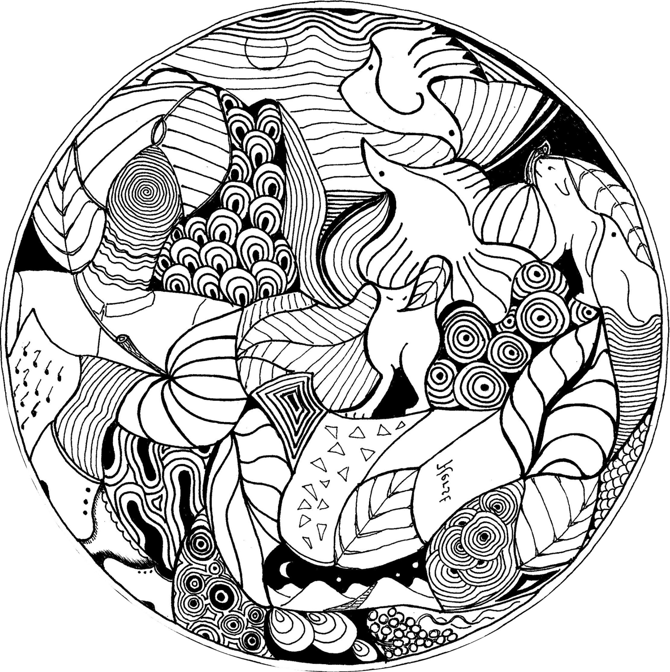 Les coloriages mandalas - Coloriages a colorier ...