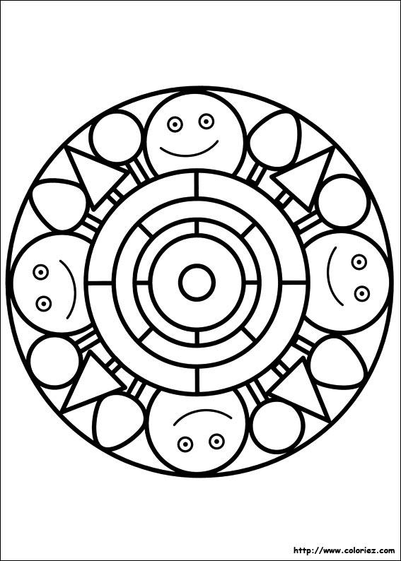 Coloriage ã Imprimer Mandala Chat