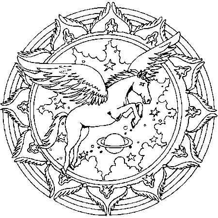 coloriage mandala forme géométrique