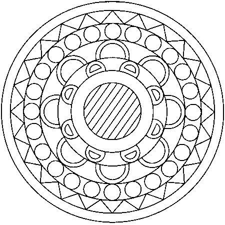 Coloriage Mandala Facile A Imprimer.Coloriage A Imprimer Mandala Facile