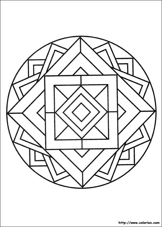 coloriage mandala magique imprimer