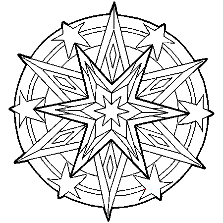 coloriage mandala grand format