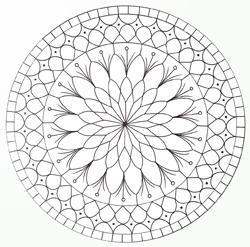coloriage mandala yin yang