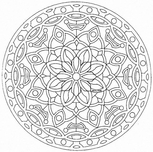 Coloriage Mandala Chouette