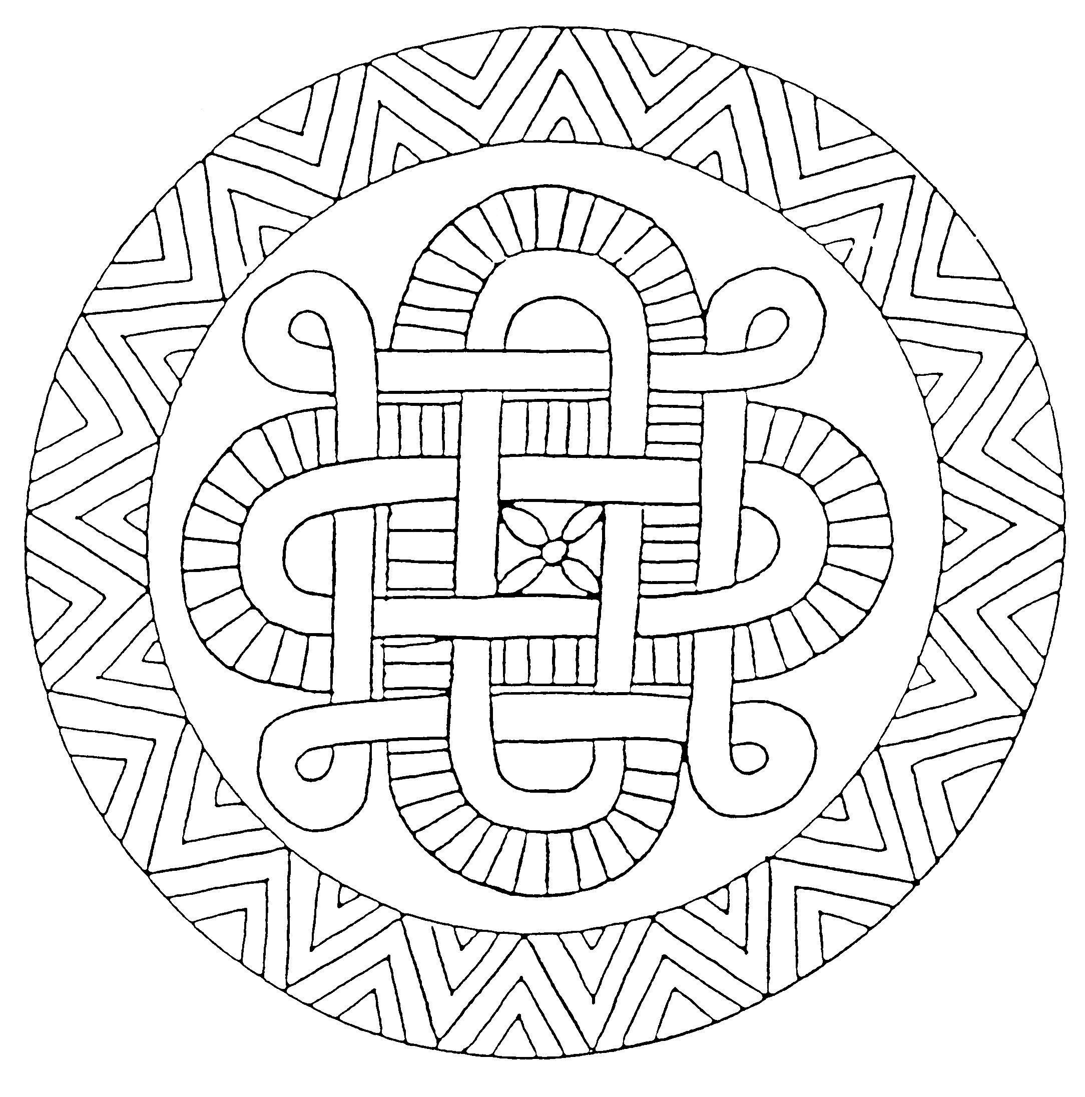 Coloriage mandala automne - Imprimer des mandalas gratuit ...