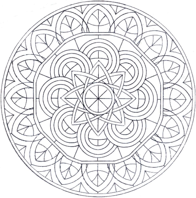 Coloriage vrac mandala - Imprimer coloriage mandala ...