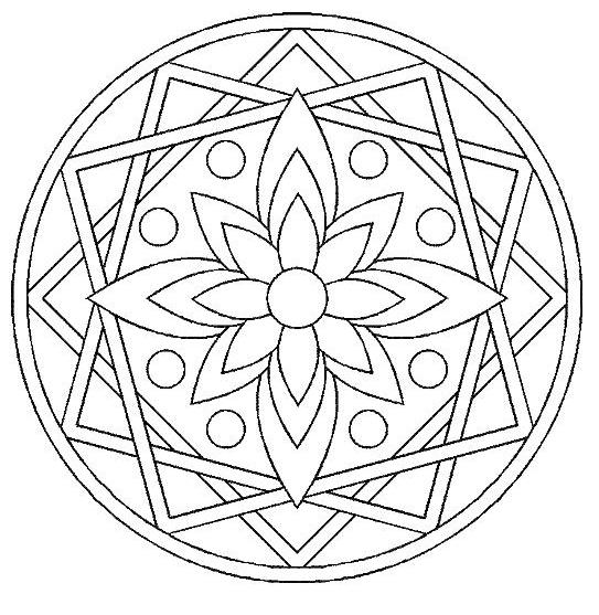 coloriage mandala rectangle