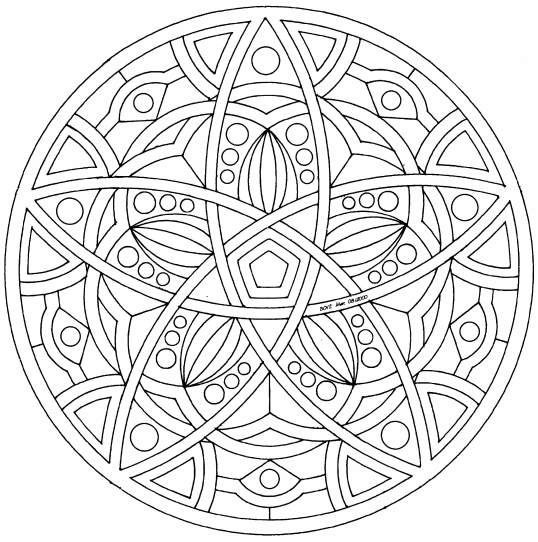 Coloriage mandala colorier dessin imprimer - Dessins de mandala ...