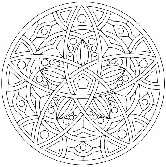 Coloriage mandala colorier dessin imprimer - Mandala coeur imprimer gratuitement ...