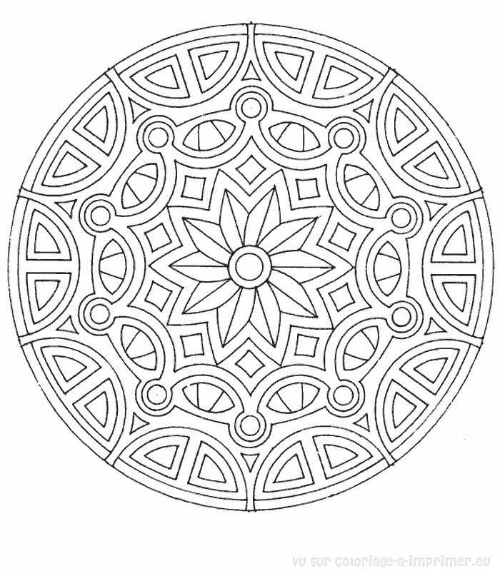 Coloriage mandala pdf - Dessins de mandala ...