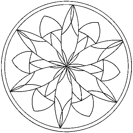 coloriage mandala original