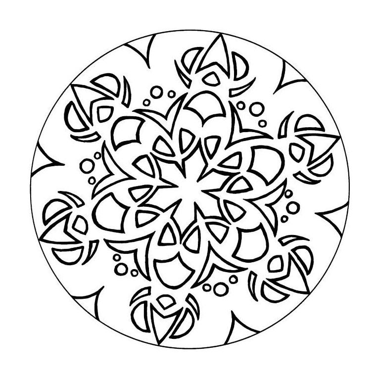 coloriage mandala lapin